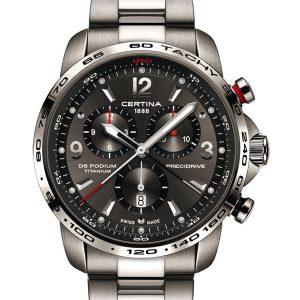 Certina DS Podium Chronograph 1/100 Sekunde C001.647.44.087.00 Precidrive Titanium