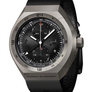 PORSCHE DESIGN Monobloc Actuator GMT-Chronotimer Titanium & Rubber 4046901564131 / 6030.6.02.001.05.2