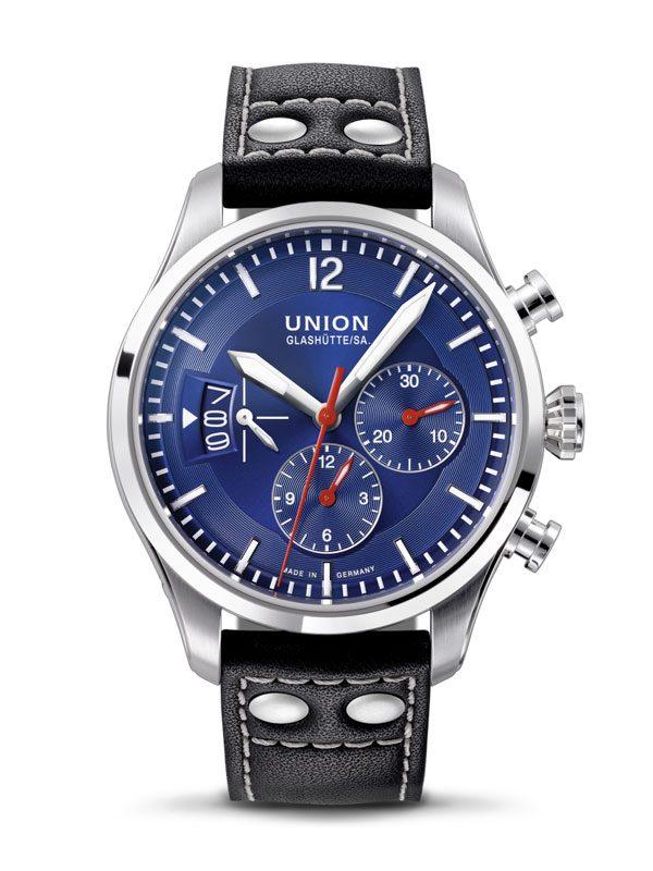 Union Glashütte Belisar Pilot Chronograph D009.627.16.047.00 Blau