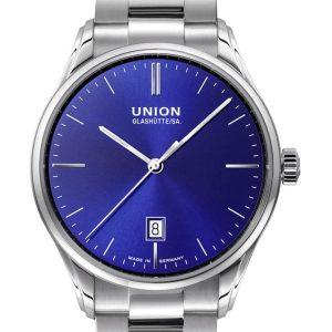 Union Glashütte Viro Datum 41mm D011.407.11.041.00 Herrenuhr Blau