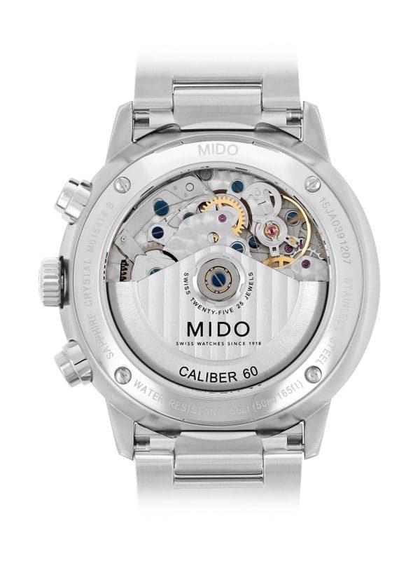 Mido Commander II Chronograph M016.414.11.041.00 Rückseite