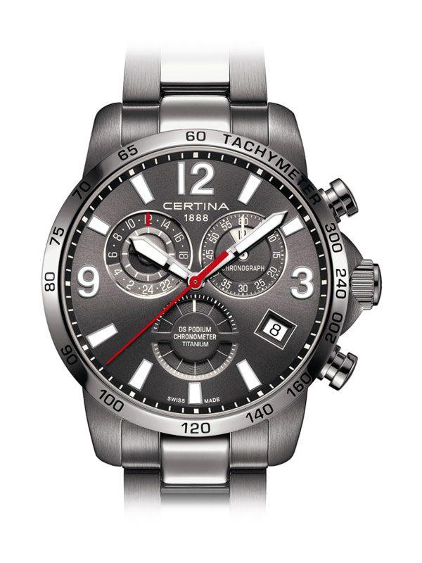 Certina DS Podium Chronograph GMT C034.654.44.087.00 COSC Titanium