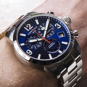 CERTINA DS Podium Chronograph GMT C034.654.11.047.00 COSC Blau