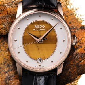 MIDO Baroncelli Lady Wild Stone M035.207.36.471.00 Tigerauge