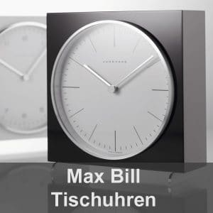 MAX BILL Tischuhren