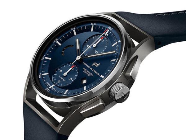 PORSCHE DESIGN 1919 Chronotimer Flyback Blue & Leather 4046901079178